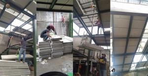 pemasangan panel beton ringan